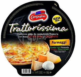 Campofrío Pizza con masa extra fina y crujiente con 4 quesos Envase 290 g