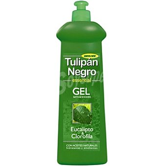 Tulipan Negro gel de baño eucalipto & clorofila con aceites naturales dosificador 600 ml