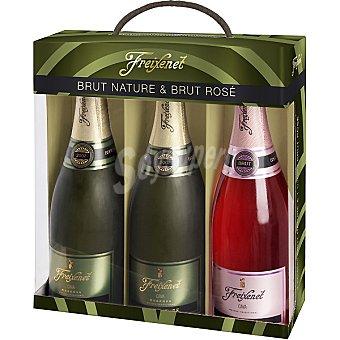 Freixenet Cava brut nature + regalo cava rosado brut botella 75 cl Estuche 2 botellas 75 cl