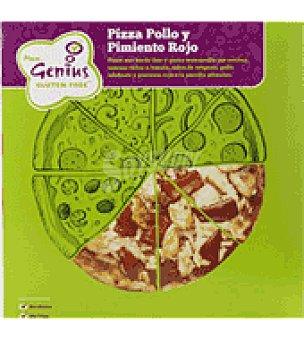 Genius Pizza de Pollo y Pimiento Rojo 250 g.