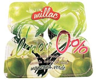 Millac Yogur Desnatado Manzana 200 Mililitros