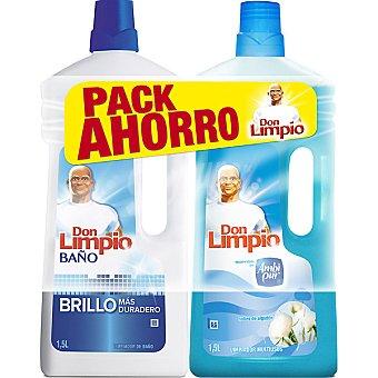 DON LIMPIO limpiador nubes de algodón + limpiador baño pack ahorro pack 2 botella 1,5 l