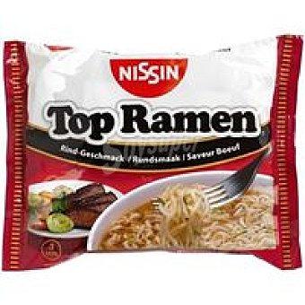 NISSIN Top Ramen de ternera Sobre 85 g