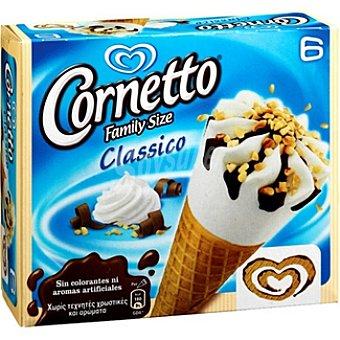 Frigo Cornetto Cono de helado de nata con barquillo y chocolate formato familiar 6 unidades estuche 560 ml 6 unidades