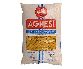 Agnesi Pennes Rigates Nº 19, pasta de sémola de trigo duro de calidad superior 1 Kilogramo
