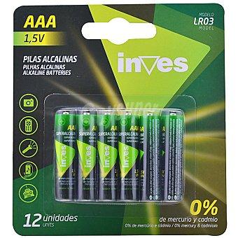 INVES LR03 AAA Pilas alcalinas blister 12 unidades