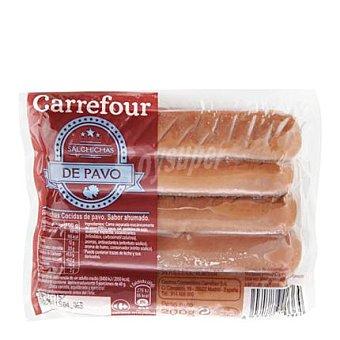 Carrefour Salchichas cocidas y ahumadas de pavo 200 G 200 g