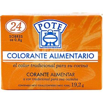 Pote Colorante alimentario caja 24 sobres