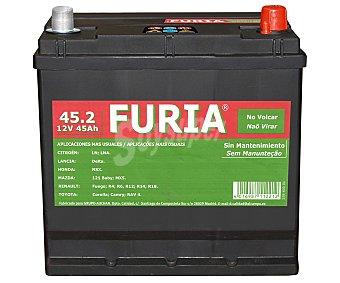 FURIA Batería de automóvil de 12v y 45 Ah, con potencia de arranque de 300 Amperios 1 unidad