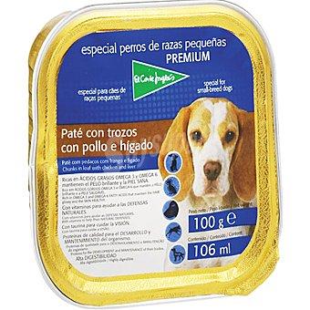 El Corte Inglés Paté con trozos pollo e hígado tarrina 100 g Razas Pequeñas Tarrina 100 g