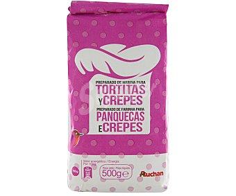 Auchan Preparado de harina para tortitas y crepes 500 gramos