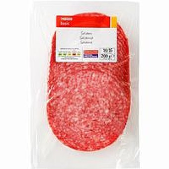 Eroski Basic Salami extra lonchas 125g