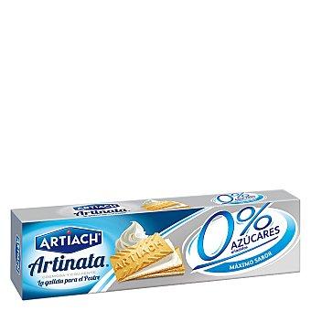 Artinata Artiach Artinata galletas de barquillo rellenas de nata sin azúcar Estuche 200 g