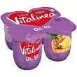 Yogur desnatado sabor piña Pack 4 x 125 g Vitalínea Danone