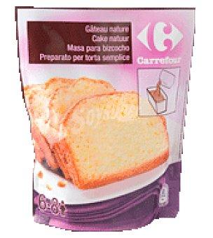 Carrefour Masa bizcocho natural 550 g