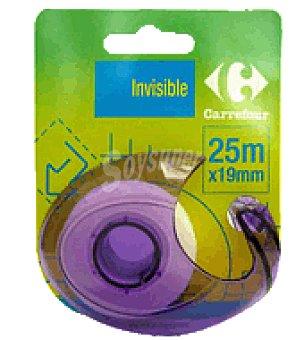 Carrefour Rollo adhesivo + dispensador 25X19 mm
