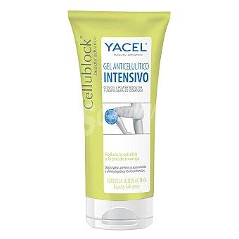 Yacel Cellublock gel anticelulítico intensivo reduce la celilitis y la piel de naranja Tubo 200 ml