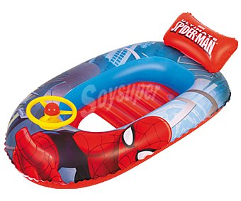 Spiderman Marvel Barca infantil hinchable, 112x71cm., diseño SPIDERMAN.