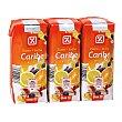 Bebida de frutas con leche caribe Pack 3 unidades 33 cl DIA