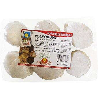 VEGETALIA Polvorones de espelta sin gluten ecológicos Estuche 300 g