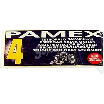 PAMEX Estropajo salvauñas flexible y adaptable Paquete 4 unidades