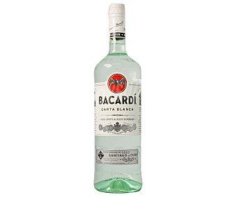 Bacardi Ron Blanco Botella Cristal 1 lt