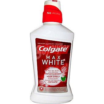 COLGATE MAX WHITE One Enjuague bucal Instant sin alcohol frasco 500 ml Frasco 500 ml