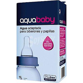 NAFREE AQUABABY Agua adaptada para biberones y papillas no necesita hervirse Envase 1 l