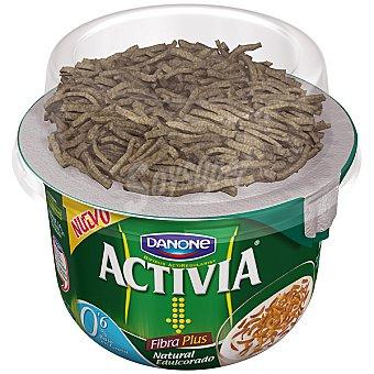 Activia Danone Yogur natural edulcorado desnatado 0% Fibra Plus Materia Grasacon cereales integrales Envase 186 g
