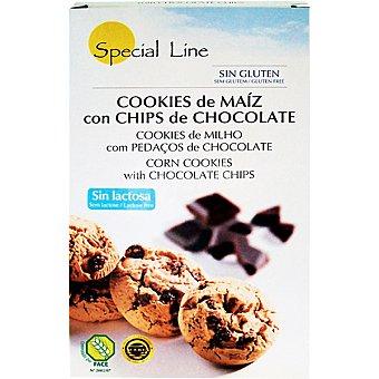 Special Line Cookies de maíz con chips de chocolate sin gluten Envase 250 g