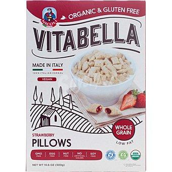 Vitabella almohadillas de cereal integral rellenas de fresa sin gluten ecológicas  envase 300 g