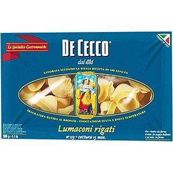 De Cecco Pasta lumaconi rigati 123 paquete 500 g