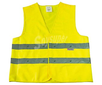 Rolmovil Chaleco de seguridad de color amarillo con doble banda reflectante talla única.