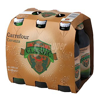 Carrefour Cerveza lager Pack 6x25 cl