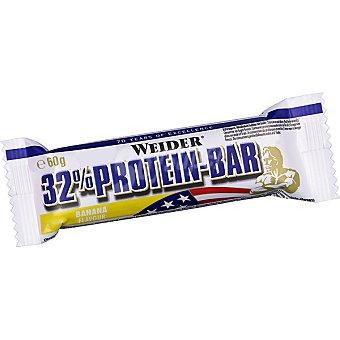 WEIDER Barrita de proteínas 32% sabor chocolate banana Envase 60 g