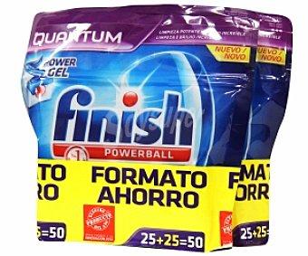 Finish Lavavajillas Concentrado Quantum 25+25 Unidades (940 Gramos)