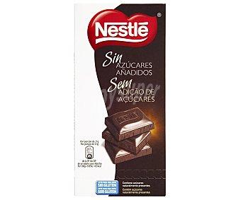 Nestlé Chocolate negro sin azúcares añadidos (contiene los azúcares naturalmente presentes) Tableta de 125 gramos