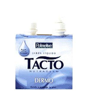 Palmolive Jabón de manos líquido Tacto Dosificador + Recambio Pack de 2x250 ml