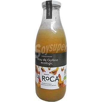 Granja la roca Caldo de gallina ecologico botella 1 l