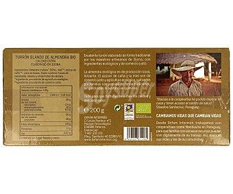 Intermón Oxfam Turrón blando de almendra, Ecológico, calidad extra,, 200 gramos