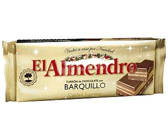 EL ALMENDRO Turrón de chocolate con barquillo tableta de 285 gramos
