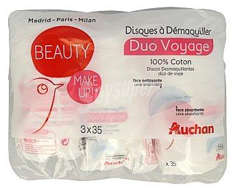Auchan Discos desmaquilladores 3 x 35 unidades