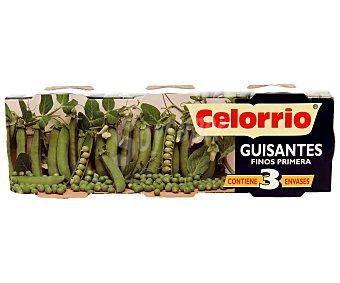 Celorrio Guisantes finos de primera Pack de 3 unidades de 60 gramos