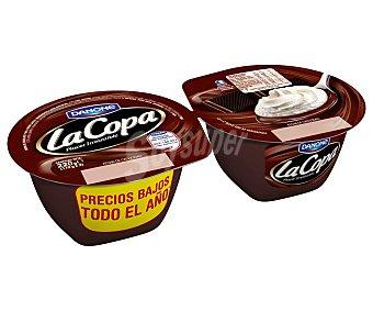 Danone La Copa Postre de chocolate y nata  2 unidades de 110 g
