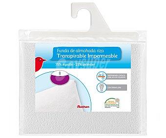 Auchan Funda protectora de almohada rizo transpirable e impermeable, 135 centímetros 1 Unidad