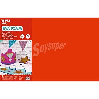 APLI Goma Eva 600X400X2 mm - Rojo