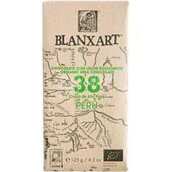 BLANXART Chocolate con leche 38% Perú ecológico 1 u
