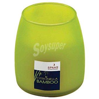 SPAAS Vela perfumada en vaso mate aroma bamboo