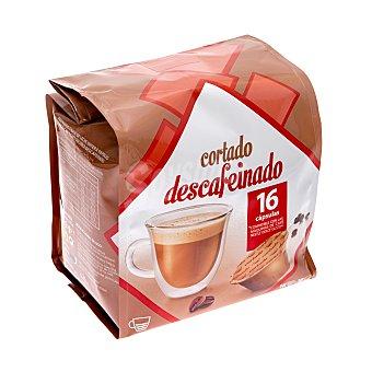 Cocatech Cafe capsula cortado descafeinado (compatible) Paquete 16 u