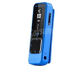 ENERGY SISTEM Running Reproductor MP3 Neon de 8GB de capacidad, sintonizador de radio FM, brazalete deportivo, pinza clip, color azul.